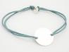 Bracelet médaille ronde 15 mm
