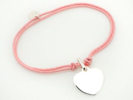 Bracelet cœur argent à graver