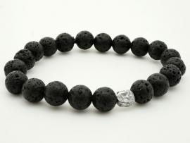 Bracelet Homme Perle de Lave et Bouddha