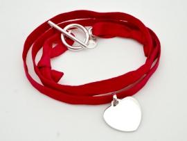 Bracelet cœur argent sur Liberty
