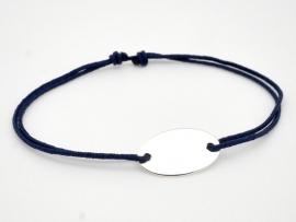 Bracelet gourmette ovale en argent pour Homme