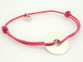 Bracelet nuage en argent sur cordon