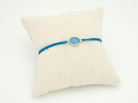 Bracelet pierre Calcédoine et argent