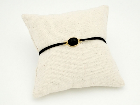 Bracelet Onyx et argent