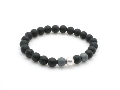Design moderne divers styles prix plus bas avec Bracelet perles d'Onyx pour enfant