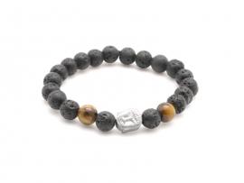Bracelet perles de lave pour enfant