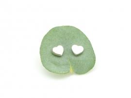 Boucles d'oreilles cœur en argent