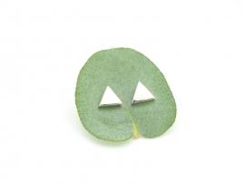 Boucles d'oreilles triangle en argent