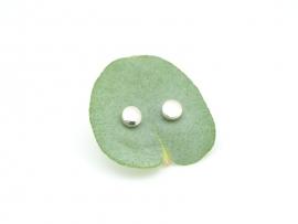 Boucles d'oreilles demie boule en argent