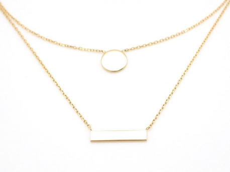 collier ras de cou double