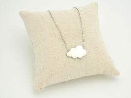 Collier nuage en argent avec chaîne