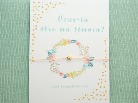 Bracelet mini perle étoile en plaqué or