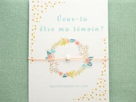 Bracelet mini perle étoile en argent