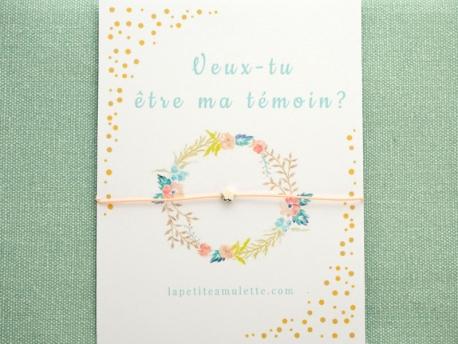 Bracelet mini perle fleur en argent