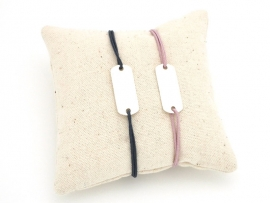 Bracelets Duo pour couple en argent sur cordon