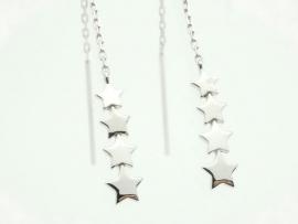 Boucles d'oreilles étoile en argent