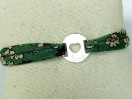 Bracelet Liberty médaille cible cœur
