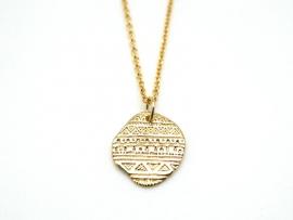 Ras de cou médaille Inca en plaqué or
