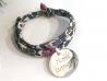 Bracelet Liberty Médaille ronde en argent 15 mm
