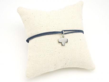 ed8e4b650452b Bracelet Croix en Argent pour Communion, Bapteme ou Naissance à Graver