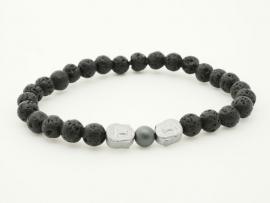 Bracelet Perle de Lave Homme
